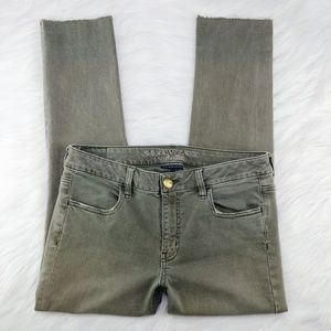 AEO | olive crop jegging with raw hems